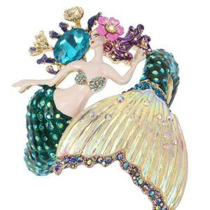 Betsey Johnson Mermaid Hinged Bangle Bracelet